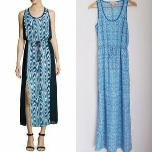 MICHAEL KORS Side Slit Drawstring Maxi Dress